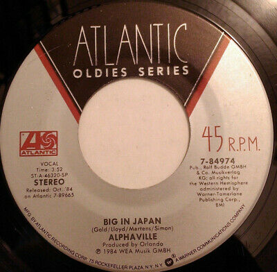 "Alphaville ‎– Big In Japan / Forever Young 7"" vinyl single"