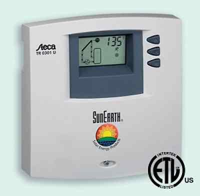 Steca 0301 U / SunEarth SETR 0301U Solar Hot Water Control w/2 Sensors, Cord