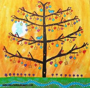 Acrylic new colourful tree painting Currumbin Waters Gold Coast South Preview