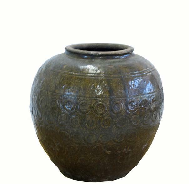 Round Coins Glazed Pottery 1