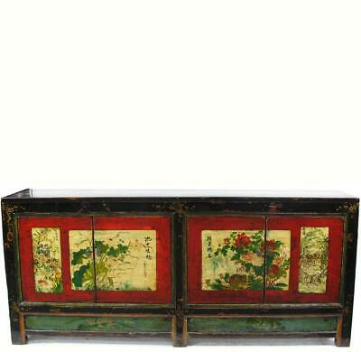 Sideboard with Hand Painted Flower Doors