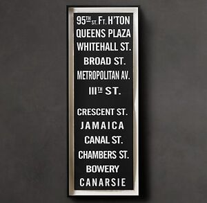 Restoration Hardware New York Subway Sign Art 95th