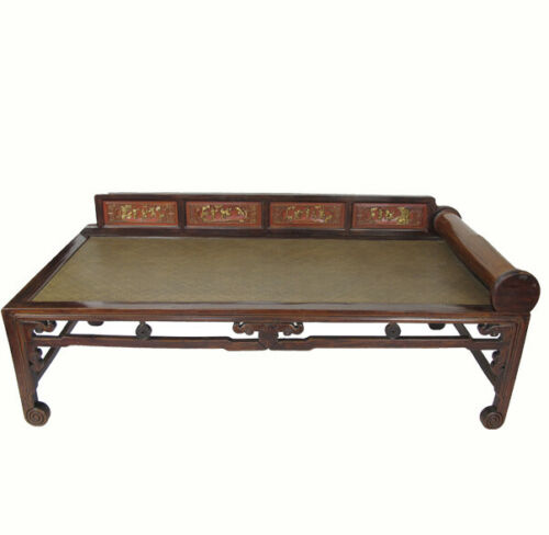 Hand Painted Rattan Daybed