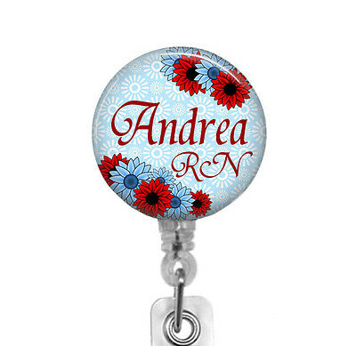 Personalized Badge Reel, Carabiner, Stethoscope ID Tag, RN Nurse Badge (Personalized Carabiner)