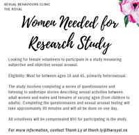 Seeking females for research study on measuring arousal