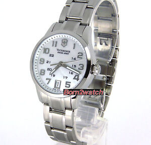 SWISS ARMY LADIES 'ALLIANCE' SOLID STEEL  MOTHER OF PEARL DIAL  SAPPHIRE 241327