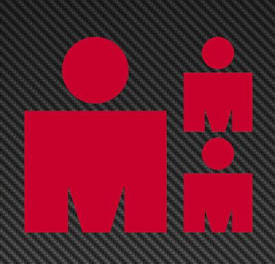 Ironman M Vinyl Sticker Decal triathlon tri 70.3 140.6 m logo kona hawaii canada