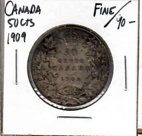 Canada 50 cents 1909 Fine