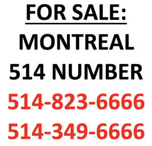 Collection of montreal 514 vanity lucky phone numbers XXXX