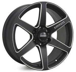 Toyota Hilux 4WD 20x9.0 Simmons S6S Matte Black Wheels Package Tempe Marrickville Area Preview