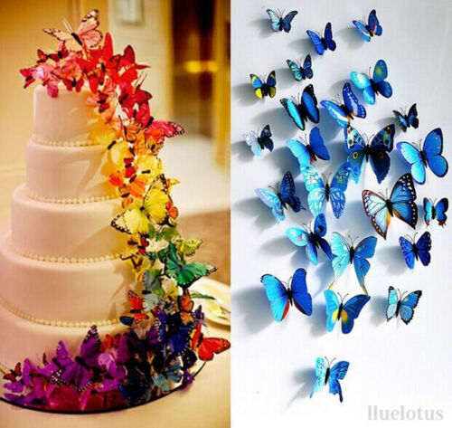 Magnetic-Sticker-Art-Deco-Home-Decor-Room-Decorations-3D-Butterfly-Wall-Stickers