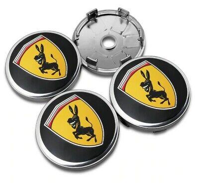 4x hochwertige Radnabendeckel Lustiger Esel - Funny Donkey│Wappen Ø 60mm ND  online kaufen