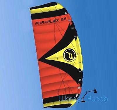 ||| PARAFLEX SPORT 2.3 ROT ||| Lenkdrachen Lenkmatte Wolkenstürmer Safety Kite