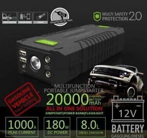 Jump Starter 20000mAh 1000Amp Smart Boost 12V Power Bank