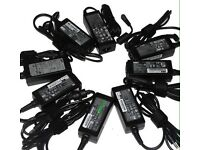 Laptop charger, Toshiba, Dell, HP, Sony, Samsung, Asus, Acer, Panasonic, Fujitsu, and MacBook