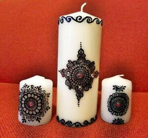 Elegant Custom made Henna Candles