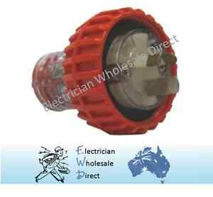 15 Amp 3 Pin IP66 Rated Industrial Weatherproof Male Plug Top Extension