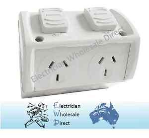 Weatherproof Double Power Point GPO 10 Amp Socket Waterproof
