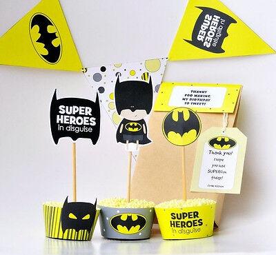 Batman birthday party decoration printables superhero party decor party supplies - Batman Party Decor