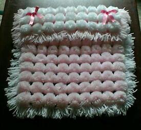 Turn over pompom blankets