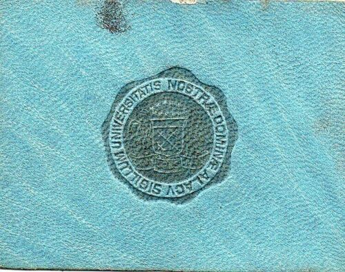 65525. ca 1910 Tobacco Premium embossed leather University of Notre Dame IN seal