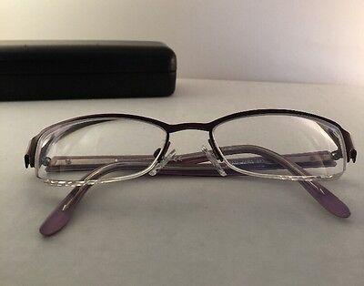 KATE SPADE Rx EyeGlasses HALF-rim Metal Purple Frame Size Est 50-20-135