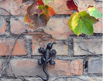 ( Retro Iron Gecko Hanger Garden Decor Yard Outdoor Lawn Wall Art Metal Decor)
