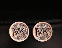 Beautiful and Fashionable MK  Rhinestone Earrings.3 Colors!