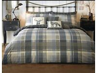Brecon charcoal duvet set