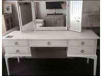 vintage stag minstrel dressing table with 3 way mirror