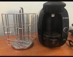 tassimo coffee maker with rack for pods!