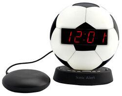 The Sonic Glow Soccer Ball Alarm Clock Sonic Bomb Bed Shaker SBW100SBSS