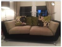 3 seater and cuddle chair £275