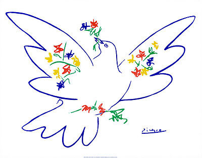 Dove of Peace Art Poster Print by Pablo Picasso, 28x22