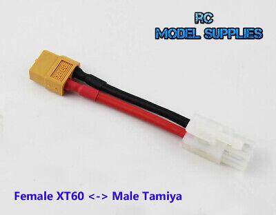 Tamiya Macho A XT60 Femenino Cable Lipo Batería Nimh Adaptador Convertidor Ru