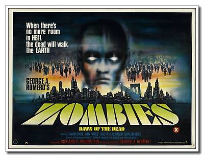 Wall Decals Zombie 24x16 inch Old Zombie Movie Silk Poster 1978 Dawn of the Dead - Old Zombie Movies