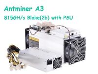 AntMiner A3 815GH/s Blake(2b) Siacoin Miner APW3++ PSU, UK Stock