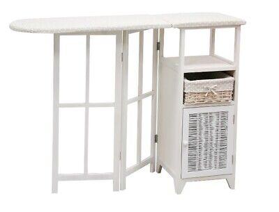 Mueble planchero, tabla de planchar Duero madera blanca
