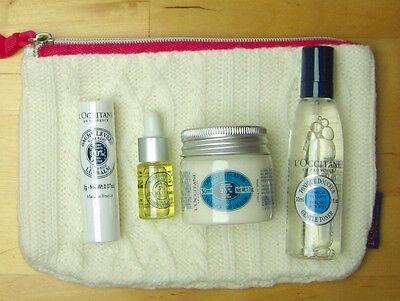 Shea Butter Geschenk-set ( L'OCCITANE Karite Shea Butter Geschenkset/Reiseset mit Kosmetiktasche)