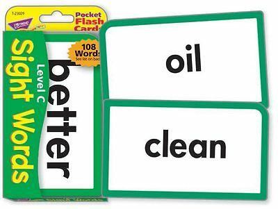 TREND kids childrens SIGHT WORDS (Level C) Pocket Flash Cards