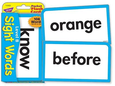 TREND kids childrens SIGHT WORDS (Level B) Pocket Flash Cards