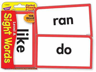 TREND kids childrens SIGHT WORDS (Level A) Pocket Flash Cards