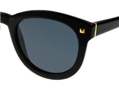 Women's Foster Grant Black Bria Retro Polarized Sunglasses with oversized lens (Foster Grant Sunglasses For Women)