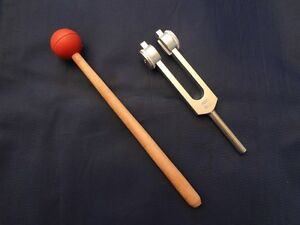 432 hz weighted tuning fork for balance and harmony mallet fast ship ebay. Black Bedroom Furniture Sets. Home Design Ideas