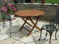 Octagonal Hardwood Garden Table