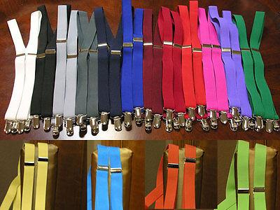 suspenders men's clip-on x back Retro Steampunk Costume Tux Dance Prom Cosplay - Retro Dance Costume