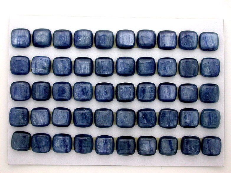 TWO 10mm Square Cushion Natural Kyanite Cab Cabochon Gemstone Gem Stone EBS7104