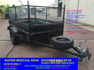 SALE BOX TRAILER 8X5 HI SIDE 600MM CAGE 12 MONTHS PRIV REGO $1500 Penrith Area Preview