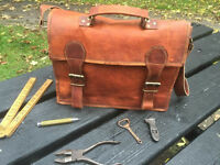 Brown Genuine Leather Satchel - Brand New