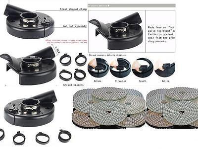 7 Convertible Dust Shroud 12 Polishing Pad Metabo Dewalt Makita Bosch Grinder